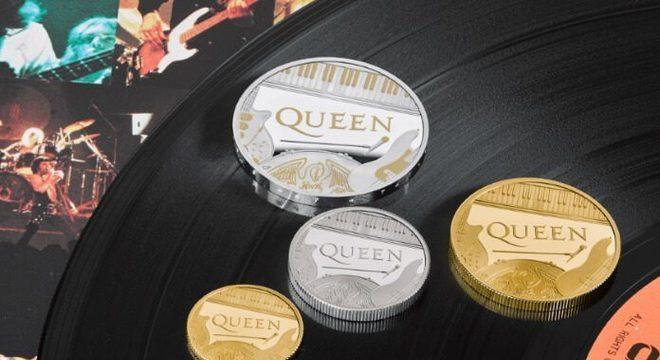 Queen é a primeira banda estampada em moeda oficial no Reino Unido