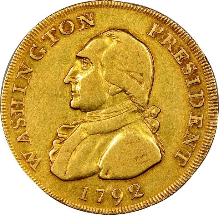 Moeda rara com imagem de George Washington será leiloada