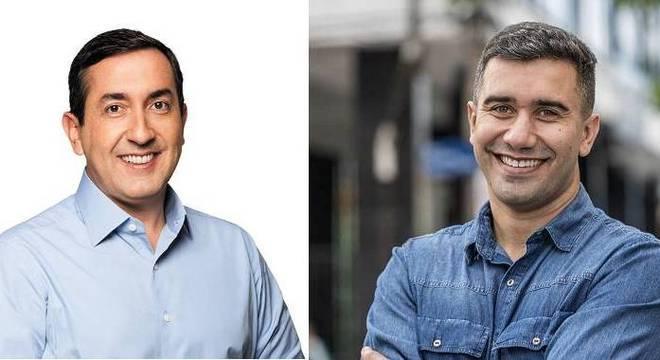 Candidatos Marcos Melo (PSDB) (à dir.) e Caio Cunha (PODE) vão para 2º turno