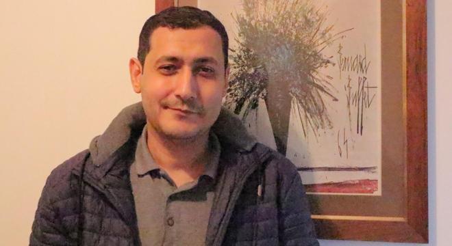 Mohamed, fotografado pouco depois de entrevista exclusiva concedida ao R7