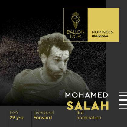 Mohamed Salah (egípcio) - atacante - Liverpool