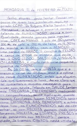 Carta escrita por presos