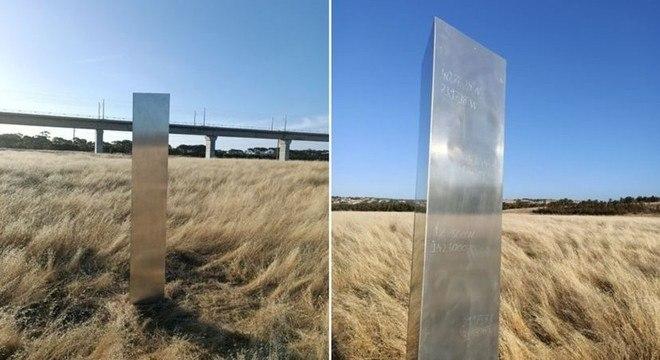 Monólito misterioso foi descoberto na Austrália talhado por coordenadas