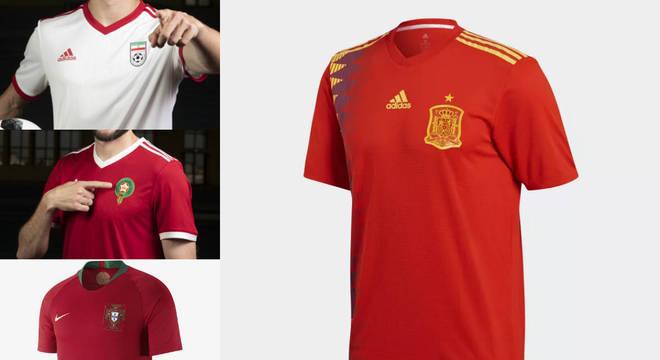 93be1f798 Faça sua escolha! Qual a camisa mais bonita do grupo B da Copa ...