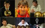 montagem, Bola de Ouro, Messi