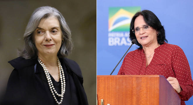 Ministra do STF Cármen Lúcia e da Família, Damares Alves, participam de live