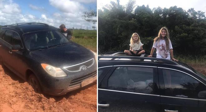 Na Transamazônica, família enfrentou lama e atoleiros