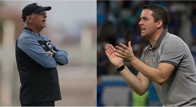 Técnicos Marcos Paquetá (Botafogo) e Osmar Loss (Corinthians)