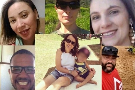 Em destaque, no centro, Juliana Lopes, desaparecida
