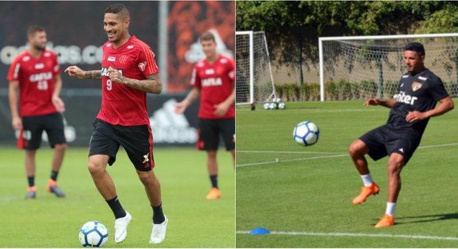Guerrero e Bruno Peres estão relacionados por Fla e São Paulo, respectivamente