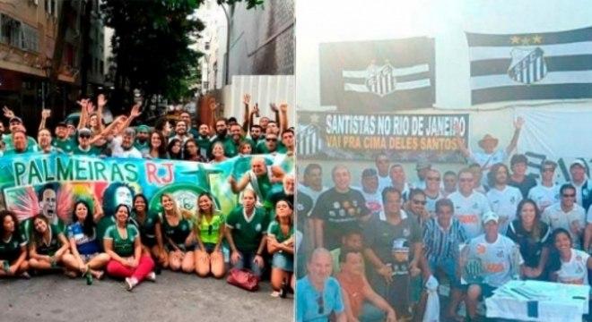 Montagem - Palmeiras e Santos