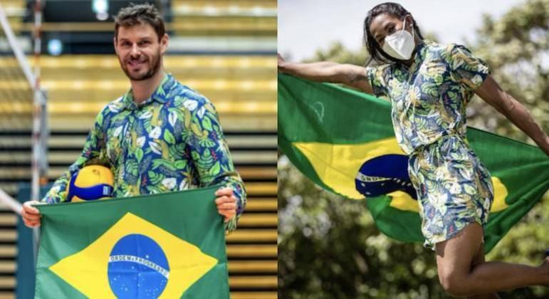 Bruninho e Ketleyn dividirão a honra na Cerimônia de Abertura de Tóquio 2020