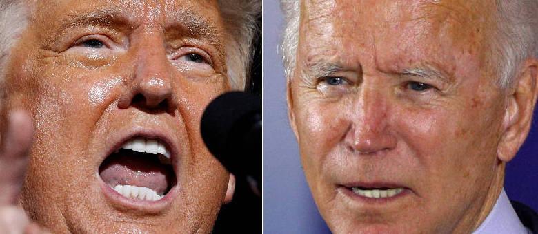 A imagem de dois estilos diferentes de agir. O radicalismo de Trump e a ponderação de Biden