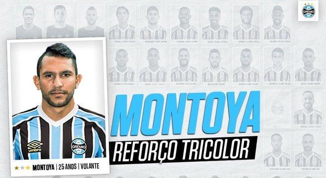 O argentino Montoya, ex-Cruz Azul-MEX, jogará no Grêmio em 2019