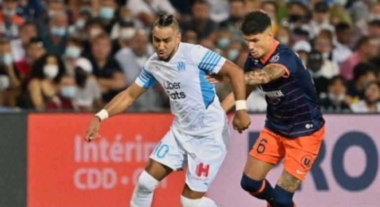 Montpellier x Olympique de Marselha - Payet e Matheus Thuler
