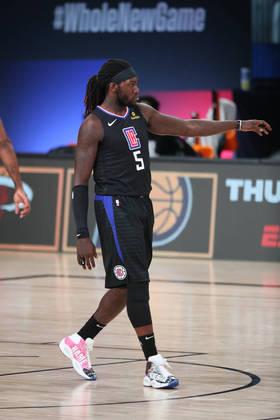 Montrezl Harrell (Los Angeles Clippers) 4,5 - Longe de seu melhor ritmo de jogo, Harrell ficou em quadra por apenas 14 minutos, produzindo seis pontos e dois rebotes