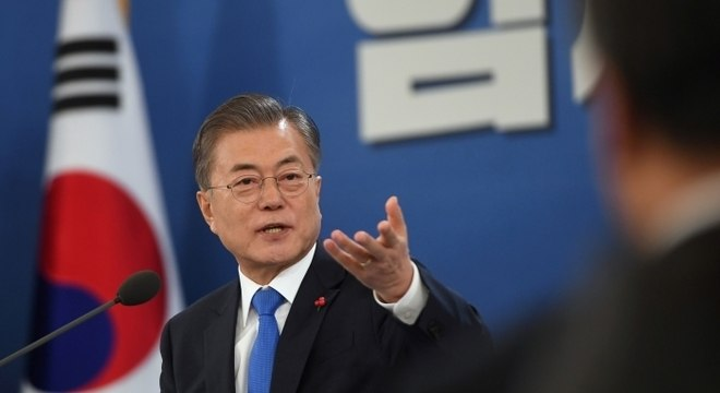 Moon Jae-in disse que pode cooperar com a comunidade internacional