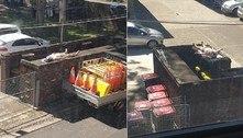 Morador em lockdown usa laje de depósito de lixo para tomar sol