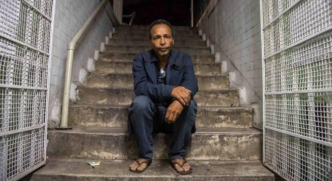 Edvaldo Gonçalves, 48 anos, está na rua há 10 anos