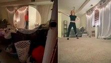 Moradora flagra stalker na sala durante gravação para o TikTok