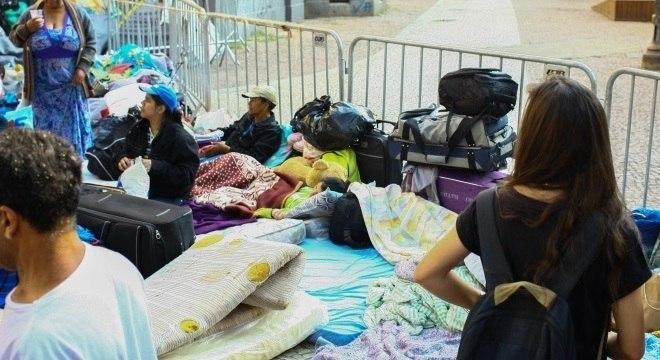 Moradores da ocupação no Largo Paissandu