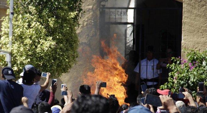 Moradores registraram com o celular o momento em que Ricardo e Alberto foram mortos