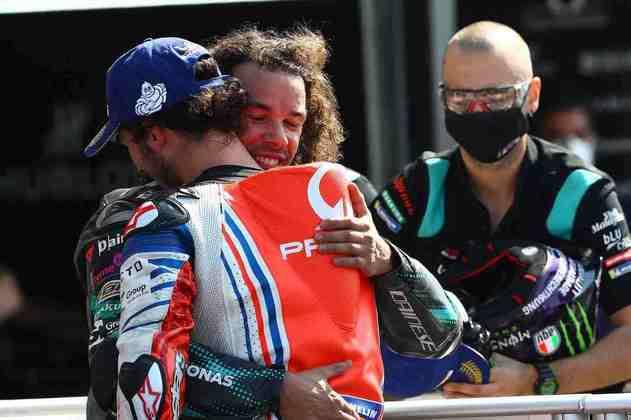 Morbidelli conseguiu a primeira vitória, Bagnaia, o primeiro pódio