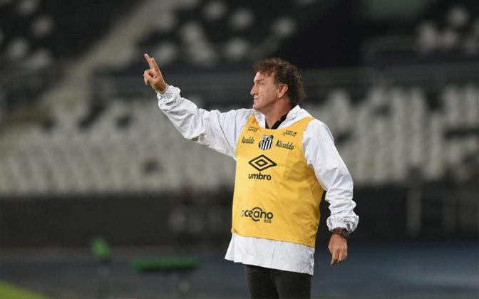 MORNO - Após o empate em 1 a 1 com o Fortaleza, na Vila Belmiro, neste domingo (27), pela 12ª rodada do Campeonato Brasileiro, o técnico Cuca afirmou que está contente com as peças que tem à disposição no elenco do Santos e descartou novos reforços.