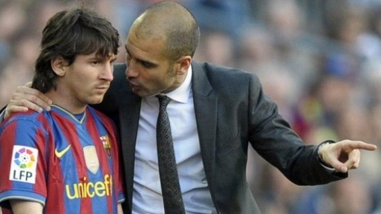 MORNO: Em entrevista coletiva, o técnico do Manchester City, Pep Guardiola usou poucas palavras para comentar sobre a negociação com Messi. Segundo ele, a decisão final de ficar no Barça foi do jogador.