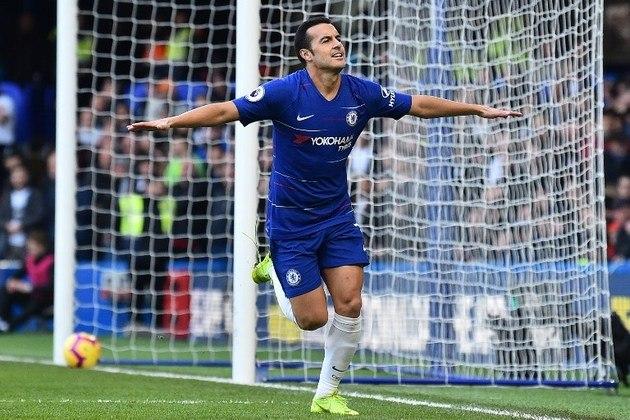 """MORNO - O atacante Pedro, que está em fim de contrato com o Chelsea, é alvo de dois clubes. O portal """"Goal"""" informa que o Betis, da Espanha, e a Roma, da Itália, são as principais equipes interessadas no campeão mundial em 2010"""