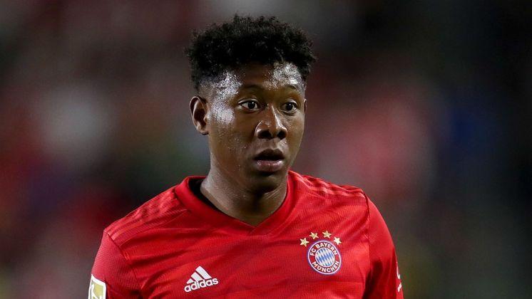 """MORNO - O futuro de David Alaba segue indefinido no Bayern de Munique pelo pedido de salário de 20 milhões de euros (R$ 121 milhões) anuais, segundo o """"Bild"""". Manchester City e PSG observam de perto todo o imbróglio."""