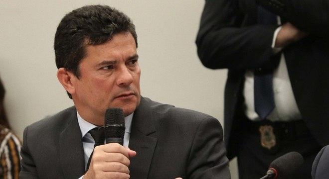 Ministro Moro durante audiência na Câmara dos Deputados