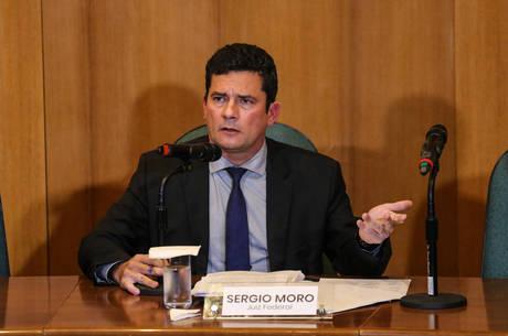 Moro participou de entrevista coletiva nesta terça