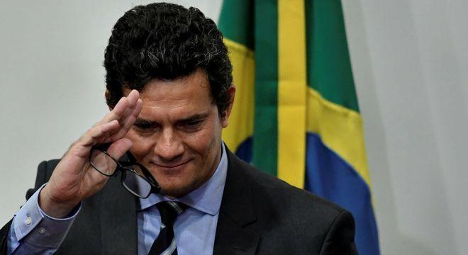 Na imagem, Moro durante anúncio de demissão do ministério da Justiça