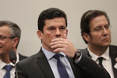 O ministro Sergio Moro durante audiência na Câmara