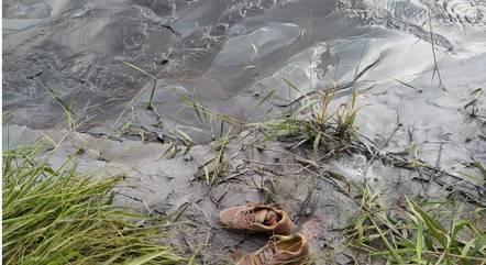 Sapatos da vítima foram encontrados no local