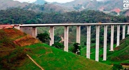 Viaduto da Prainha tem 107 metros de altura