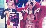 A musa da banheira Solange Gomes também prestou sua homenagem ao querido apresentador