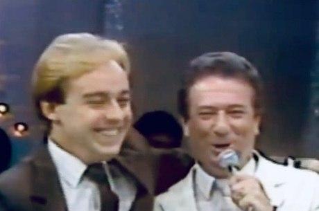 Gugu e o apresentador Raul Gil