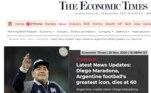O jornal The Economic Times também publicou sobre a morte do argentino