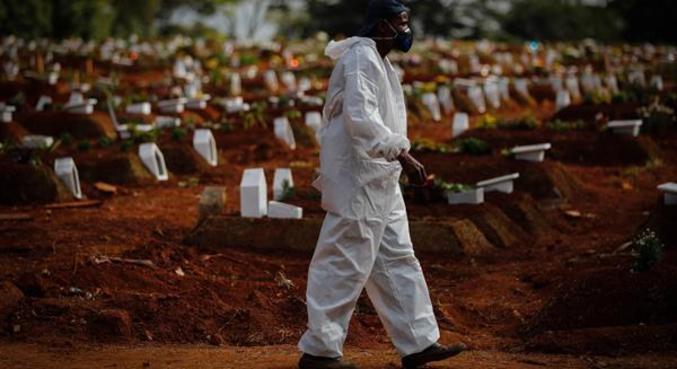 Covid causou quase 212 mil mortes além do esperado de janeiro a abril de 2021