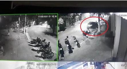 Imagens flagraram o momento do acidente