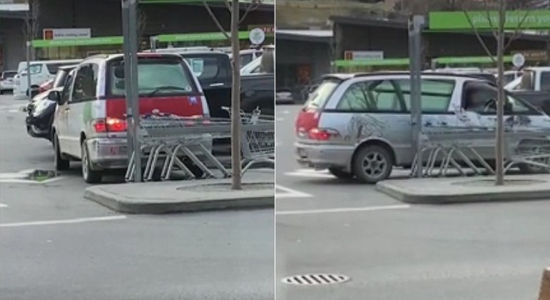 Motorista manobrou carro dentro da vaga ao invés de engatar a ré