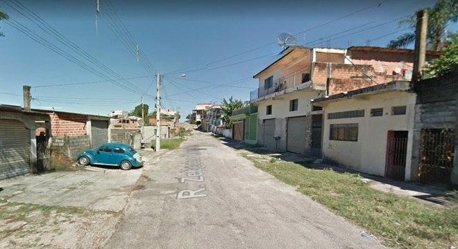 Rua em Franco da Rocha, onde suspeito teria estrangulado a namorada