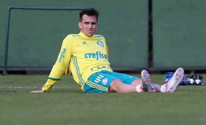 Mouche chegou ao Palmeiras em 2014, sob indicação de Gareca. Não foi bem, marcando somente três gols e sendo emprestado para diversos clubes.