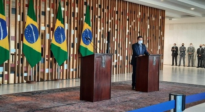 O vice-presidente Hamilton Mourão, após reunião do Conselho da Amazônia