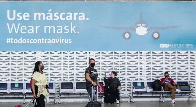 Movimentação de passageiros no Aeroporto Internacional, em Guarulhos