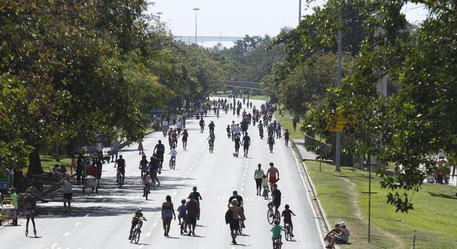 Movimentação no Aterro do Flamengo