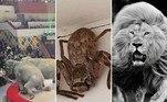 Moya: o leão branco de juba perfeita que virou celebridade internacional.Mulher encontra aranha gigantesca no banheiro e fica sem ação.Duelo de elefantes termina em caos completo em circo da Rússia.A seguir, as notícias mais bizarras e lidas doHORA 7na última semana!