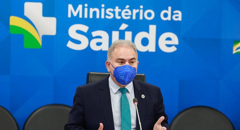 O Ministro da Saúde, Marcelo Queiroga, durante Reunião da comissão de seguridade social e família
